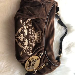 Vintage Juicy Couture Brown suede purse